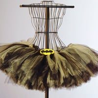 Adult Batman Black and Yellow Tutu
