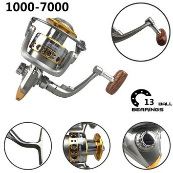 13 Ball Bearings Full metal head Fishing reel wheel spinning Reel sea wheel Daiwa Fishing reels fly reel Carretilha de pesca