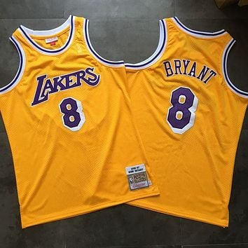 95caa3f51 1996-97 Mitchell   Ness Lakers 8 Kobe Bryant Retro Swingman Jers