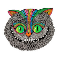 Alice´s cheshire cat by Luna Portnoi Art Print by Luna Portnoi | Society6