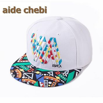 [aide chebi] 2017 new fashion new high-grade outdoor Korean alphabet ladies flat brimmed hat hip hop baseball cap snapback hat