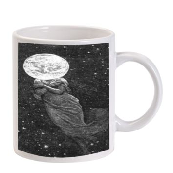 Gift Mugs | Artistic Punk Space Head Dress Ceramic Coffee Mugs
