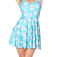 The Aristocats Marie Print Crewneck Sleeveless Cute Dress
