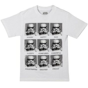 Star Wars Stormtrooper Today I Am Moods Licensed Adult T-Shirt - White - XX