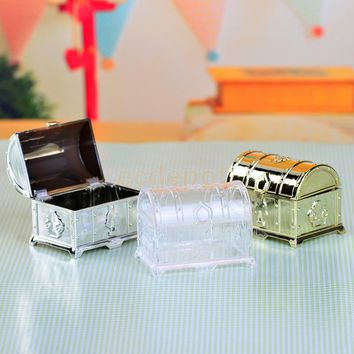 12 Pieces Fashion Treasure Chest Style Sweets Candy Boxes Party Gift Boxes Wedding Favor