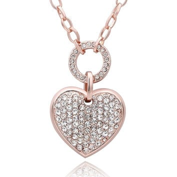 Full Love Rose Gold Sweater Necklace