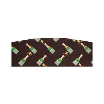 Champagne Pops Needlepoint Cummerbund in Black by Smathers & Branson