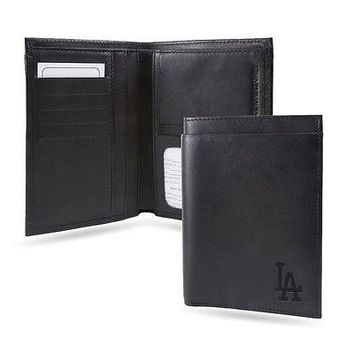 Los Angeles LA Dodgers RFID Blocking Traveling Passport Leather Wallet