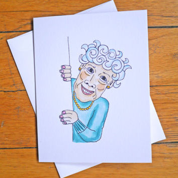 Funny Birthday Card - Old Lady - The Youngest You'll Ever Be - Rude Birthday Card