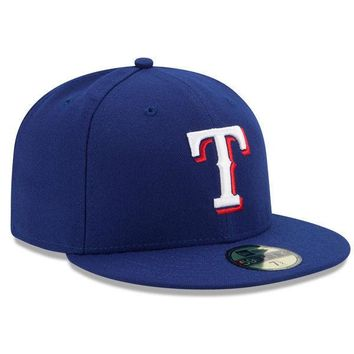 New Era TEXAS RANGERS 5950 Game Royal Blue Cap MLB Baseball 59Fifty Fitted Hat