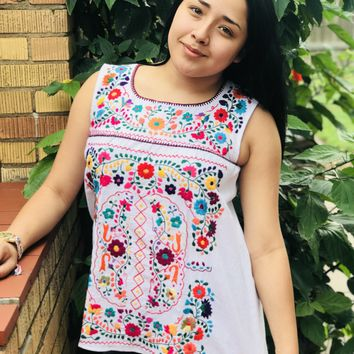 Mexican San Miguel Sleeveless Blouse