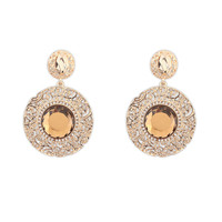 Stylish Gemstone Hollow Out Earrings [4919220612]