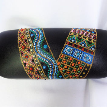 Glasses case Painted case Bohemian decor Bohemian case