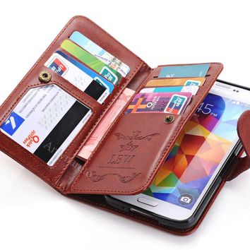 Leather Women Handbag Card Wallet Phone Case For Samsung Galaxy S8 Plus Note 8