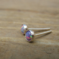 Post/Stud Earrings 38 Opal 4mm