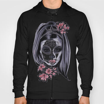 Sugar Skull Girl Hoody by Smyrna