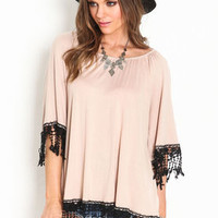 Fringe Poncho Knit Top - LoveCulture