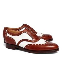 The Great Gatsby Collection White and Brown Spectator Wingtips - Brooks Brothers