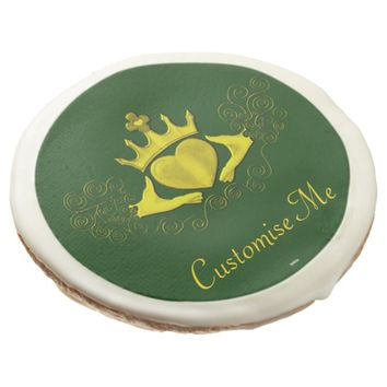 The Claddagh (Gold) Sugar Cookie