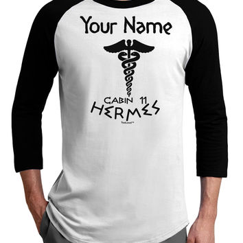 Personalized Cabin 11 Hermes Adult Raglan Shirt by
