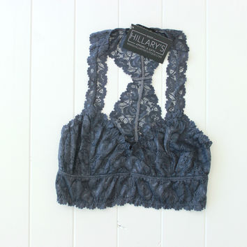 Bliss Lace Bralette - Charcoal