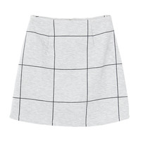 PIN GRAPH CHECK TRAPEZE SKIRT - EMODA Global Online Store