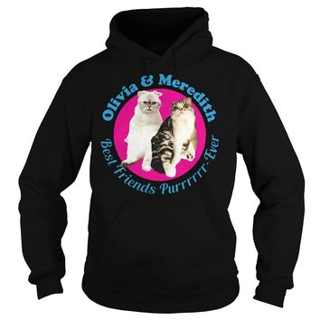 Oliver and Meredith best friends purr ever shirt Hoodie