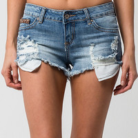 ZCO Suede Trim Womens Denim Cutoff Shorts | Shorts