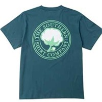 Gliks - Southern Shirt Company Signature Logo T-Shirt in Indian Teal