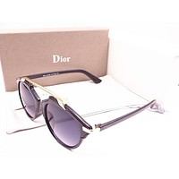 Dior Fashion Women Men Delicate Sun Shades Eyeglasses Glasses Sunglasses Black Grey Purple I-MYJ-YF