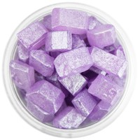 Pearly Purple Square Gem Sugar