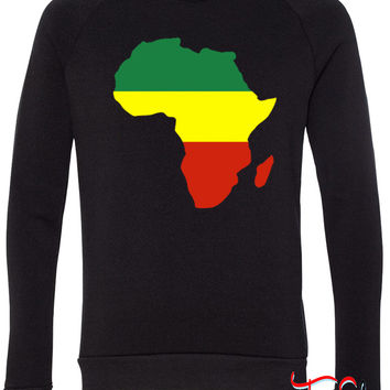 Africa Reggae Design 1 fleece crewneck sweatshirt