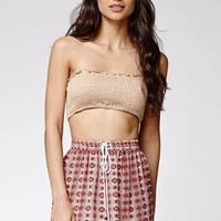 Raga Bridget Bandeau Top - Womens Tees - Beige