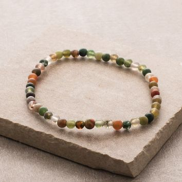Indian Agate Mini Gemstone Energy Bracelet