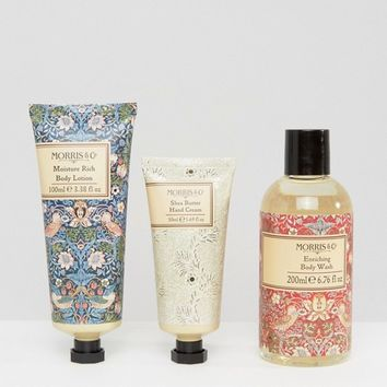 Morris & Co Strawberry Thief Bodycare Set at asos.com