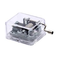 Amazon.com: Laxury Plastic Music Box with the Spirited Away Tune (Always with Me) Sy003(Clear base, 18note Movement in Sliver,Set of 1): Home & Kitchen