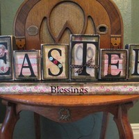 Easter Blessings Word Blocks