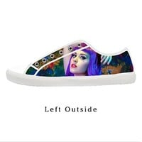 Custom American singer Katy Perry Women's Canvas Shoes Fashion Shoes for Women