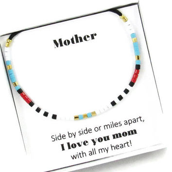 Mothers Day Gift | Gift for Mom | Dainty Bracelet | Friendship Bracelet | Mother's Day Gifts | Gift for Her | Long Distance Gift