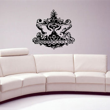 Baroque Architectural Style Ornate Swirl Ornament Architecture Living Room Wall Decal Bedroom Stickers Modern Wall Decal Sticker Home nm216
