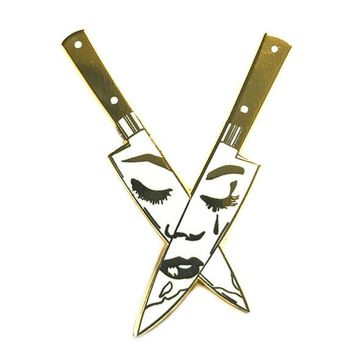 Crying Knives Pin