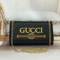 """Gucci"" Fashion All-match Embroidery Letter Logo Metal Chain Single Shoulder Messenger Bag Women Flip Small Square Bag"