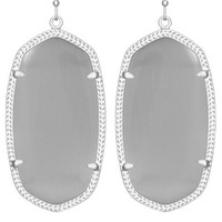 Danielle Silver Earrings in Slate - Kendra Scott Jewelry