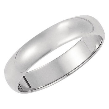 Men's 14K White Gold 5mm Traditional Plain Wedding Band (Available Ring Sizes 7-12 1/2)