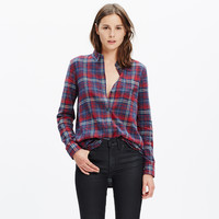 FLANNEL EX-BOYFRIEND SHIRT IN BAINBRIDGE PLAID