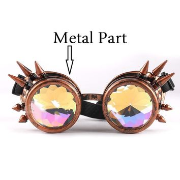 a403cedcbe8c4 Vazrobe kaleidoscope Sunglasses men women Steampunk round rave S