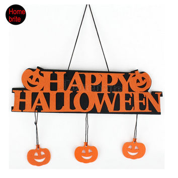 Halloween Decoration HAPPY HALLOWEEN Hanging Hangtag Halloween Window Decoration Halloween Pumpkin Hanging Strips HW057