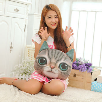 38 cm 3 d cats meow star people head pillow ideas hold pillow cute plush toys