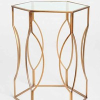 Hexagon Side Table- Bronze One