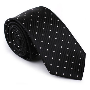 Christmas Gift Polka Dot Necktie Luxury 100% Silk Woven Jacquard Casual Formal Business Wedding Dress Tie Men Neckwear Accessory